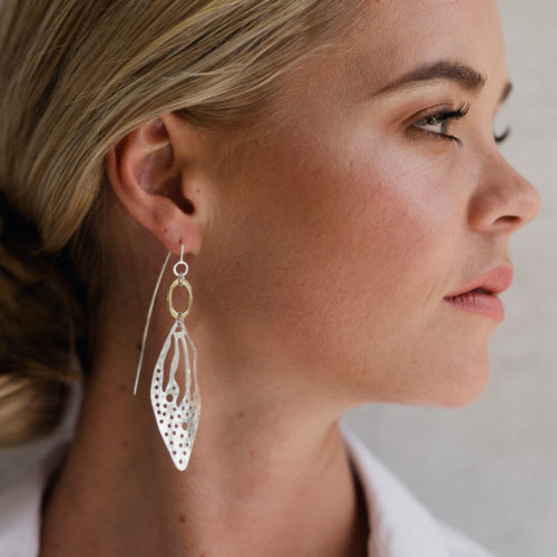 Silver Cut Out Pattern earrings