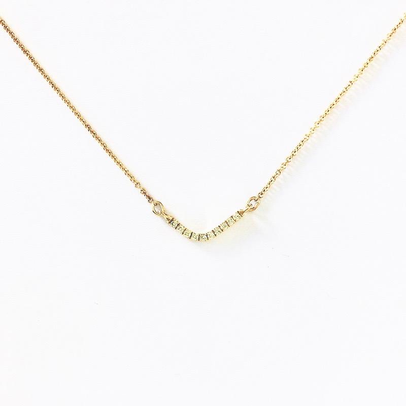 Wonky V Diamond Pendant