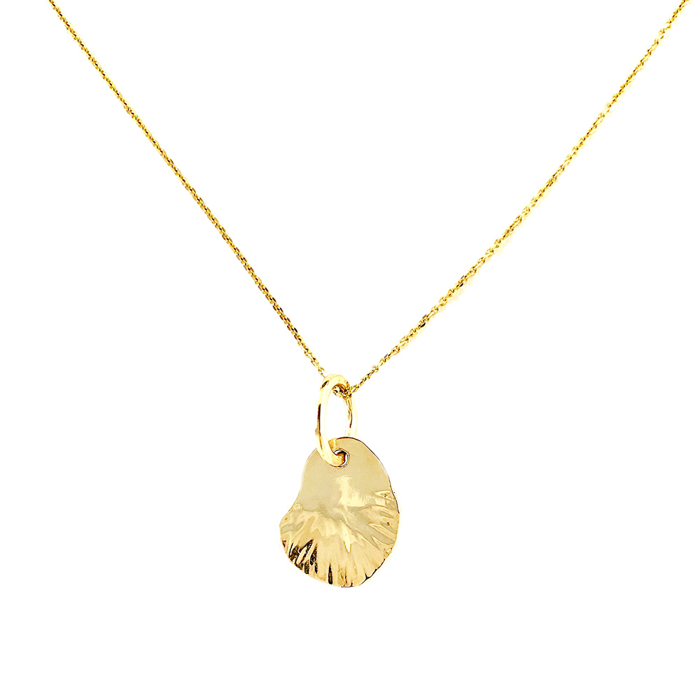 Yellow Gold Leaf Pendant