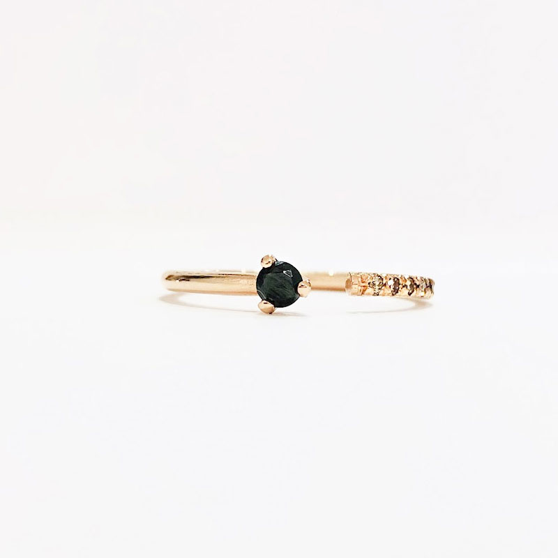 Stackable Black Diamond Gap Ring